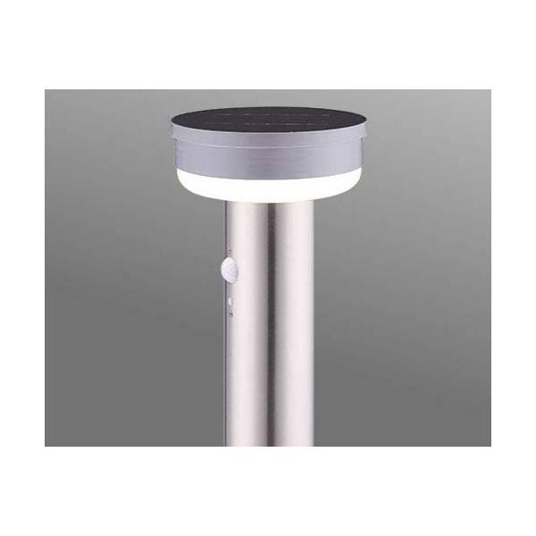 Borne solaire détecteur de mouvement extérieur IP44 inox gris professionnel LEBLANC CHROMEX éclairage bornage