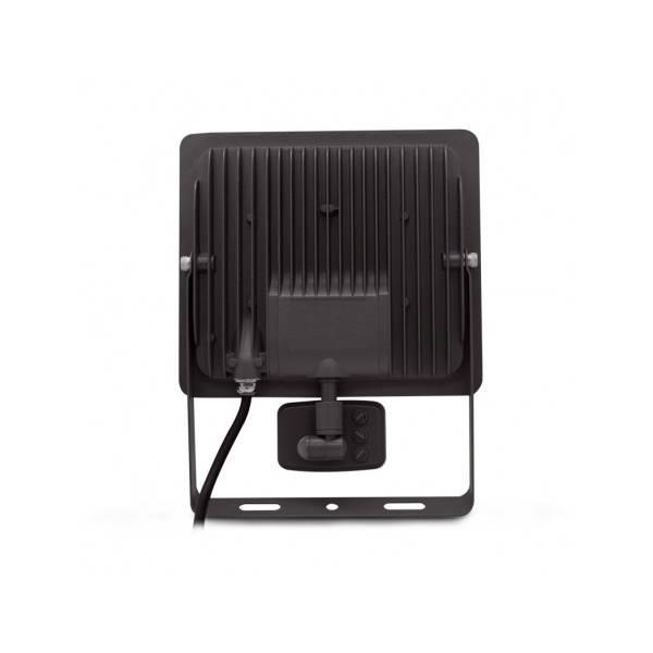 Projecteur détecteur de mouvement 100W extérieur blanc neutre 4000K IP65 professionnel