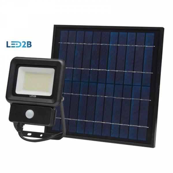 Projecteur extérieur solaire 10W détecteur de mouvement LED blanc froid 6500k