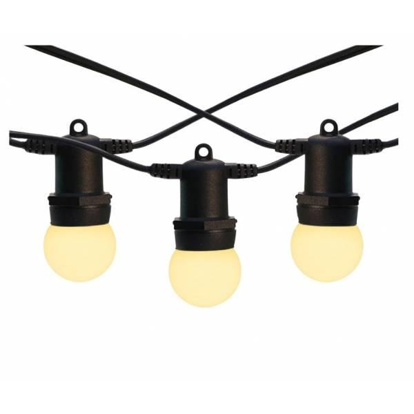 Location guirlande lumineuse guinguette led fête E27 10 Mètres 20 ampoules 1W connectable