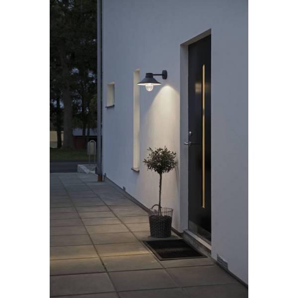 Applique murale Vega Aluminium IP54 noir 700 lumens blanc chaud 3000k 8W dimmable professionnelle Konstsmide