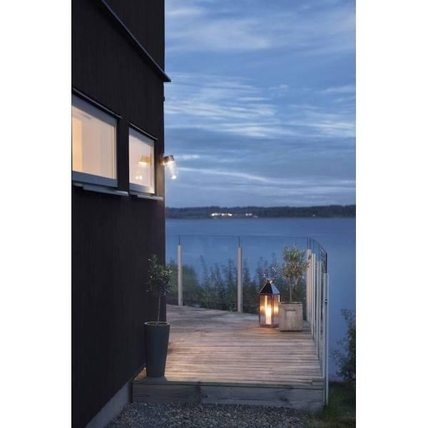 Applique murale extérieur laiton dimmable IP54 cloche de verre blanc chaud 3000k 8W professionnelle Konstsmide