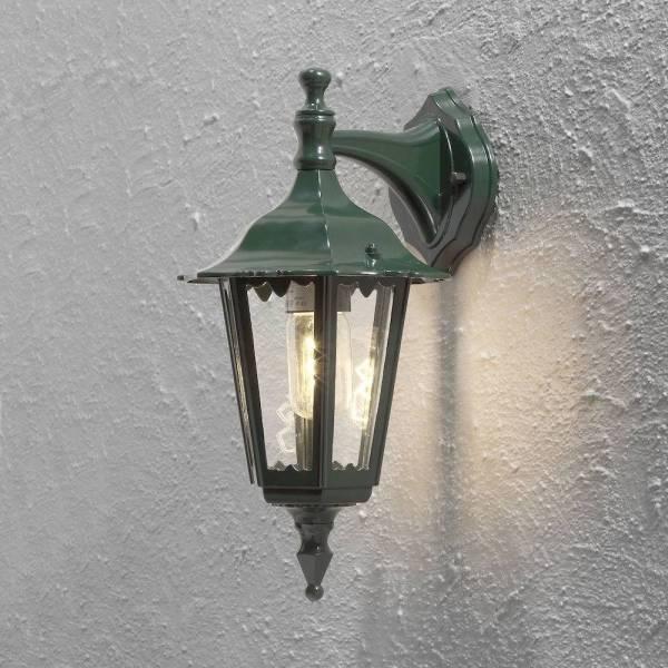 Applique murale lanterne extérieur ancienne verte Firenze Aluminium IP43 E27 professionnelle Konstsmide