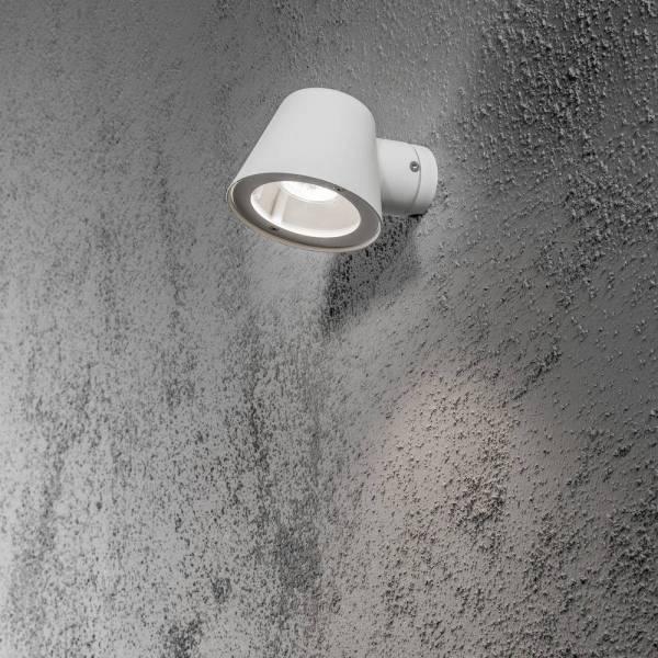 Applique murale extérieure design blanche Trieste Aluminium IP44 GU10 professionnelle Konstsmide