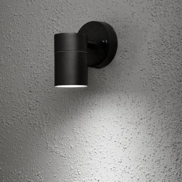 Applique murale extérieure noir spot vers le bas Aluminium IP44 GU10 modena professionnelle Konstsmide