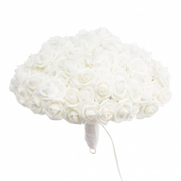 Bouquet 120 Roses blanches lumineuses LED H23 CM diamètre 30CM