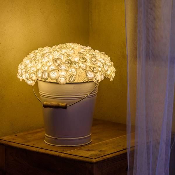 Bouquet 192 Roses blanches lumineuses LED H33 CM diamètre 40CM