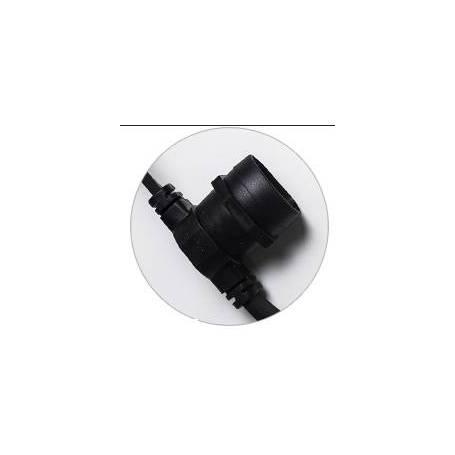 Guirlande Guinguette câble noir 50M 50 portes ampoule E27 extensible