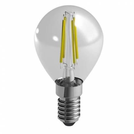 Ampoule led filaments e14 spherique 4w blanc chaud