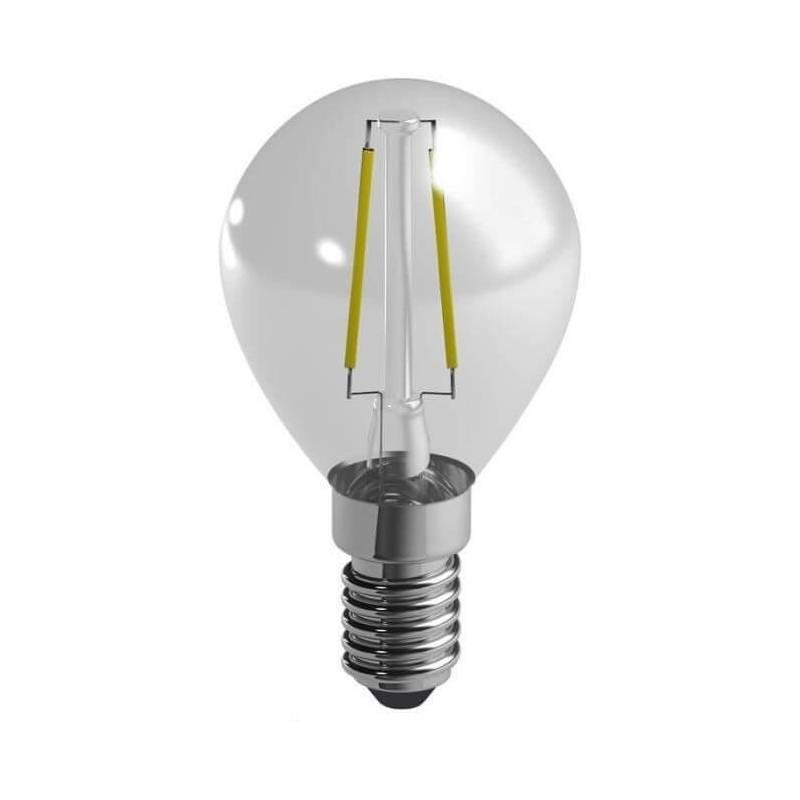 Ampoule led filaments e14 spherique 2,4 w equivalent 25 w blanc chaud
