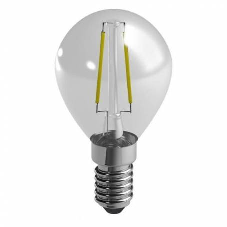 Ampoule led filaments e14 spherique 2,4 w equivalent 25 w blanc chaud