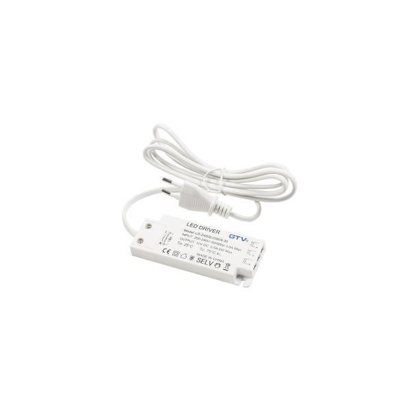 Alimentation 12V 9W GTV easy clic mini AMP 9W 3 connecteur 0.7a ampère