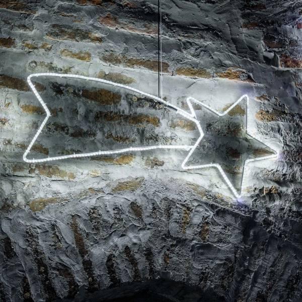 Etoile filante lumineuse flash 288 led blanc froid 100CM IP44