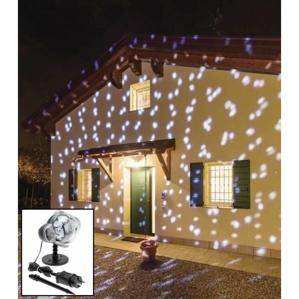 Projecteur effet chute de neige 3W extérieur Noël professionnel