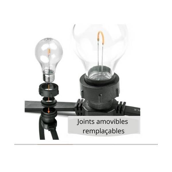Joint caoutchouc noir pour guirlande guinguette pro illumination V2