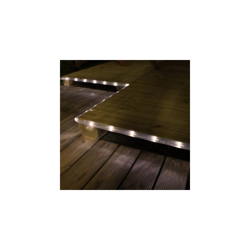 cordon lumineux led blanc froid 40 m jardin exterieur