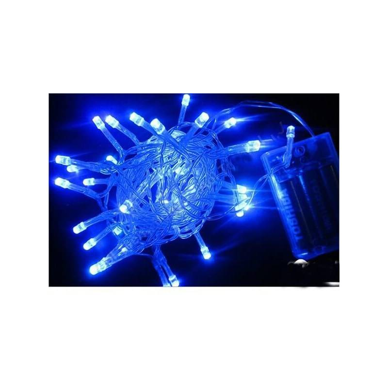 Guirlande led piles Bleu 250cm 15 leds