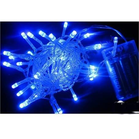 Guirlande led piles Bleue 2M 20 leds