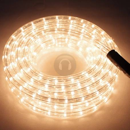cordon lumineux led professionnel 10 mètres blanc chaud