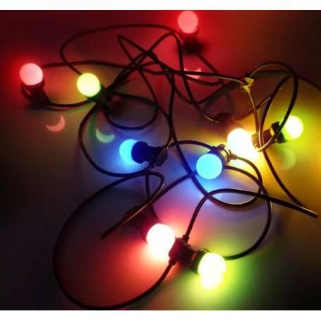 Guirlande Guinguette ampoule led B22 multicolore
