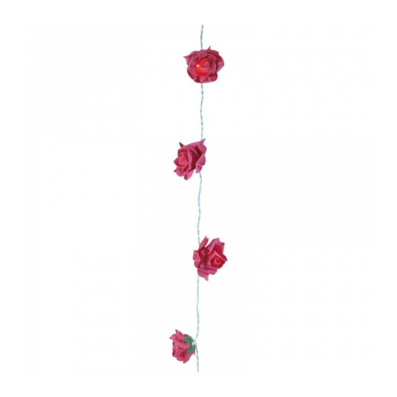 Guirlande led roses rouges