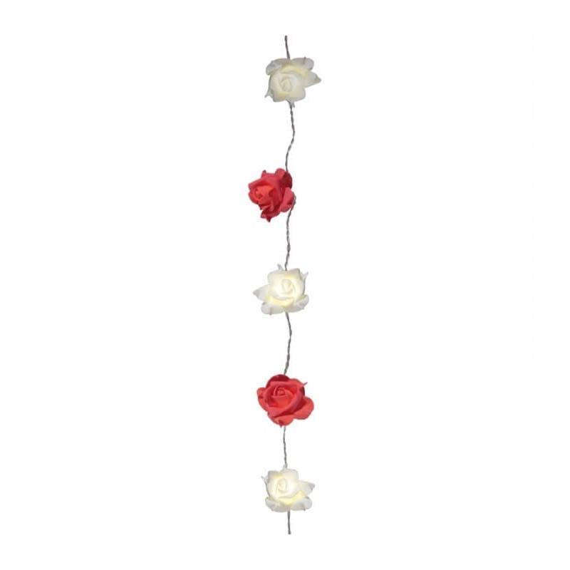 Guirlande led roses rouges et blanches déco
