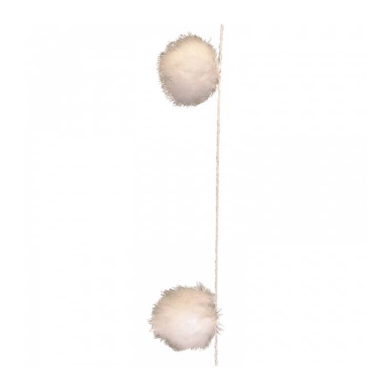 Guirlande led boules plumes blanche
