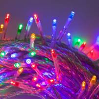 Guirlande led multicolore piles 7M