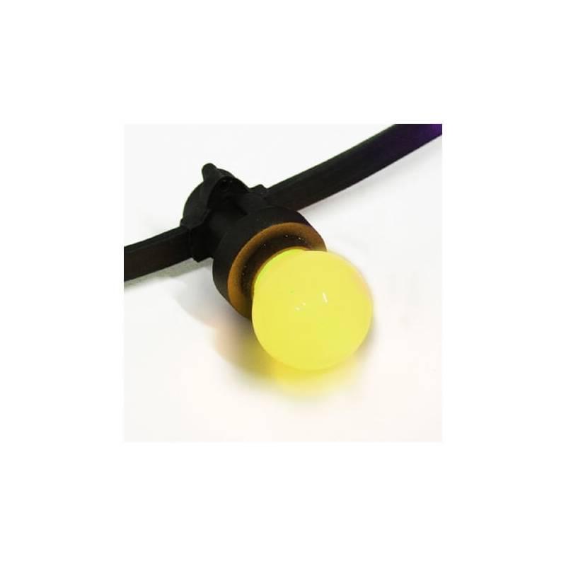 Guirlande led guinguette 20 ampoules LED E27 jaune 12M
