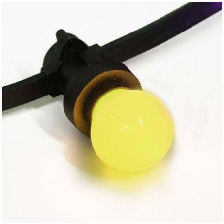 Guirlande lumineuse guinguette ampoule LED E27 jaune 12M