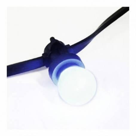 Guirlande guinguette pour éclairage 20 ampoules LED E27 3W Blanc chaud