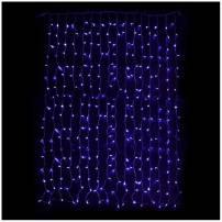Rideaux lumineux led 3M de hauteur Bleue Prolongeable