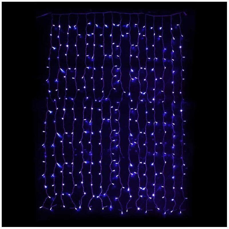 rideaux lumineux 925 led 3 5m de hauteur bleue prolongeable. Black Bedroom Furniture Sets. Home Design Ideas