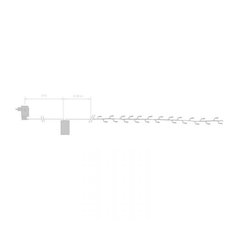 installation guirlande led 16 mètres blanc froid