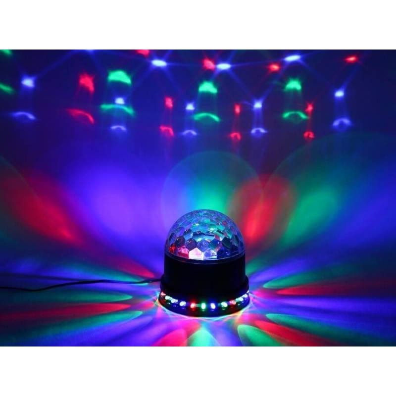 projecteur 27 led disco rotation anim montage mural sol ou plafond pro illumination. Black Bedroom Furniture Sets. Home Design Ideas