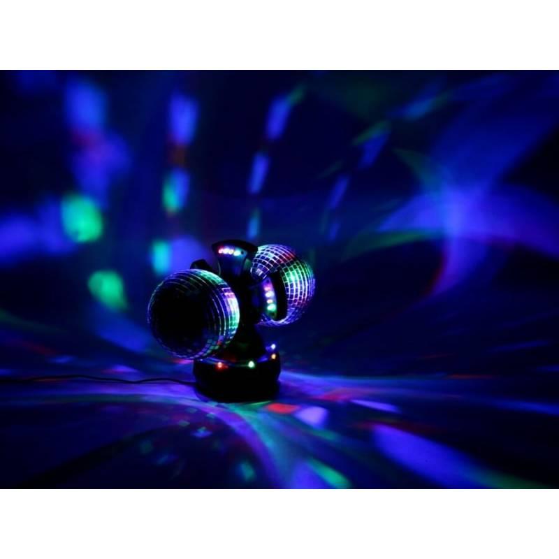 Lampe Facette 2 Rotation Animation Disco Boules À Led Avec Mini shQxotBCrd