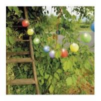Guirlande led 16 lampions ronds multicolores extérieur