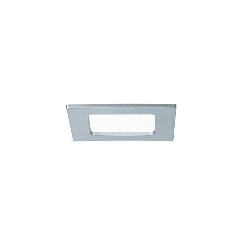 Spot LED encastrable salle de bain carré chrome 6W blanc naturel