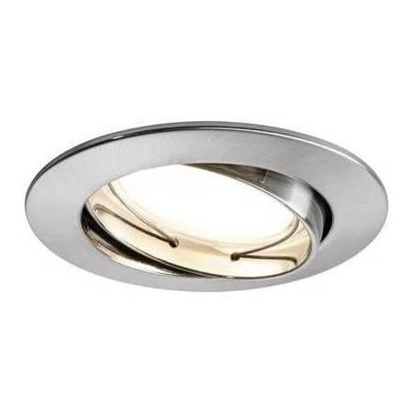 Spot led encastrable led blanc chaud 7w Alu brossé orientable