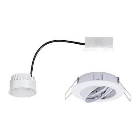 Spot led encastrable led rond orientable blanc chaud 6.8 w blanc mat