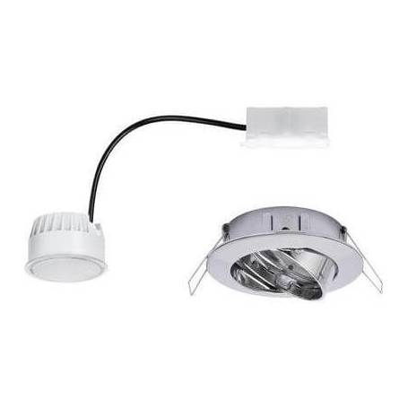 Spot led encastrable led blanc chaud 6.8 w chrome orientable professionnel