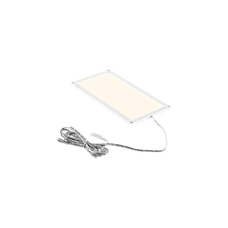 Dalle led extra plate 9w 30X10cm blanc chaud