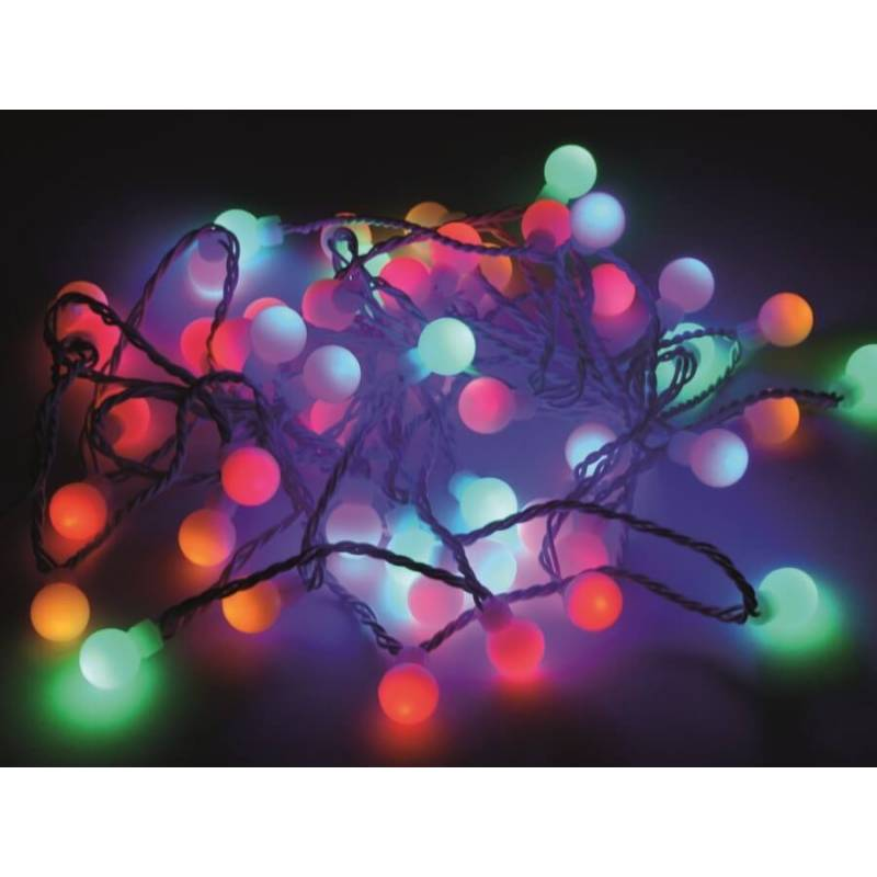guirlande petites boules led multicolores d co int rieur ext rieur. Black Bedroom Furniture Sets. Home Design Ideas