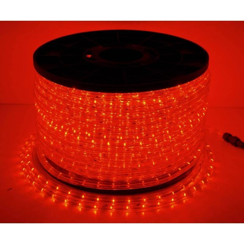 cordon lumineux led 50 mètres rouge