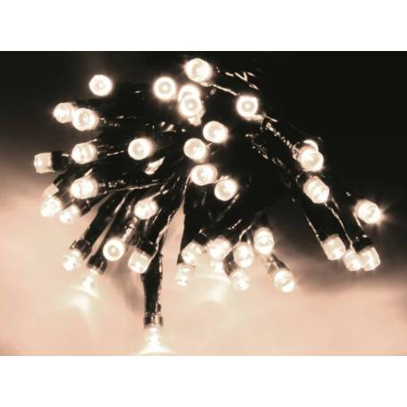 Guirlande led blanche 8 programmes animations 4 mètres 40 led