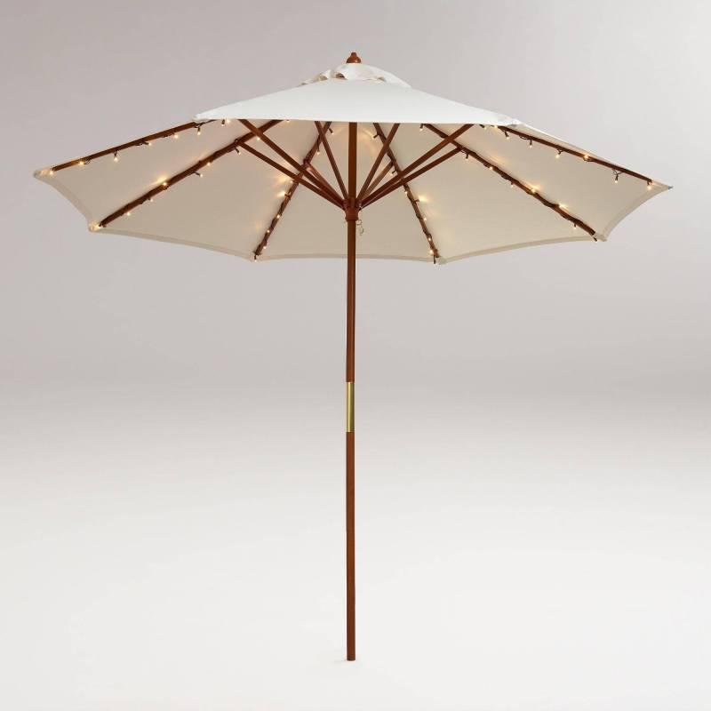 Guirlande led solaire pour parasol 8 branches extérieur
