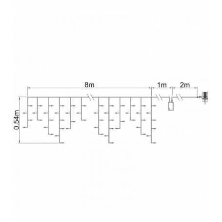 plan Guirlande stalactite 8 mètres