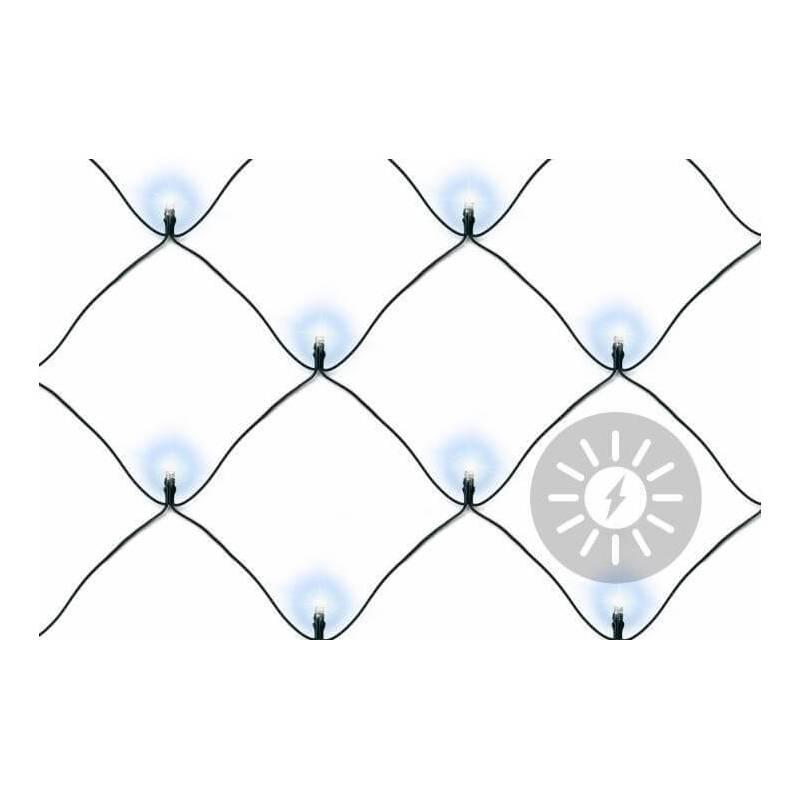 Filet lumineux led solaire blanc froid extérieur cable vert