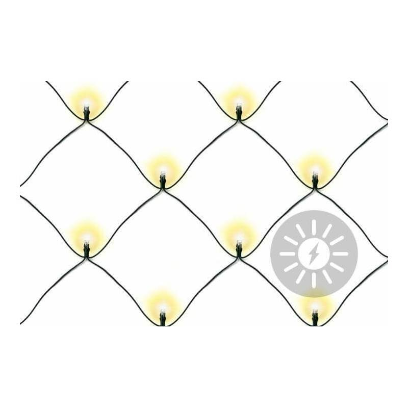 Filet lumineux led solaire blanc chaud 105 LED pour arbre buisson haies