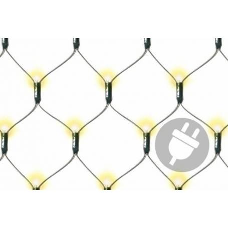 Filet lumineux led 160 LED blanc chaud câble vert extérieur